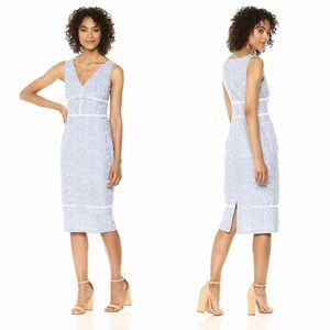 {Maggy London} Pincord Embroidery Sheath Dress